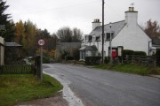 Insh village and telephone box
