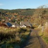 The track down to Strathpeffer