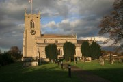 Mattersey  church in low afternoon sun
