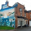 The Talbot Inn and mural, Rushmore Street, Leamington Spa