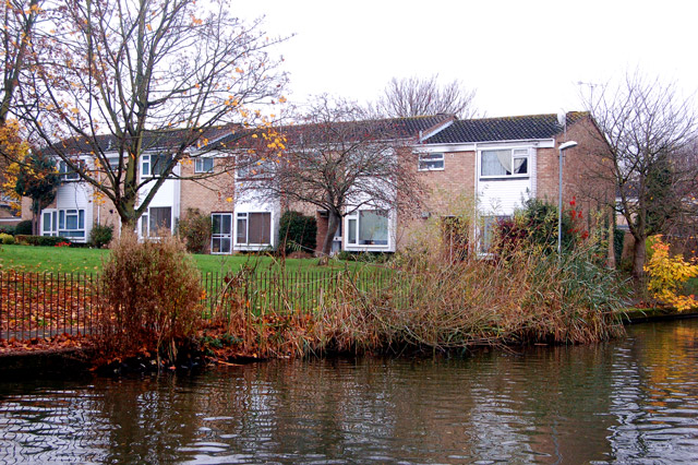 Canalside houses on Fellmore Grove, Sydenham estate