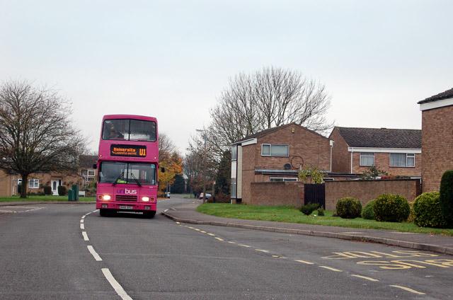 Bus on Gainsborough Drive, Sydenham estate
