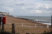 Shingle beach, West Marina