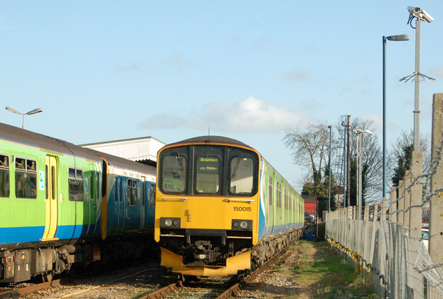 Trains stabled at Leamington Spa station