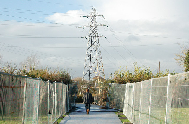 Temporary diversion of Grand Union canal towpath near Warwick