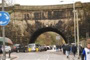 The Leeds-Liverpool Canal crossing Aqueduct Road, Blackburn