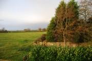 View over farmland, Edleston