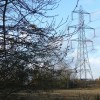 Pylon in field