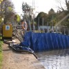 Works at railway aqueduct, Grand Union Canal, Myton (3)