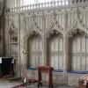 St Mary, Adderbury, Oxon - Piscina & sedilia