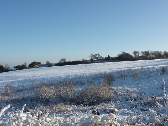 Wigley Farm, and snow covered fields
