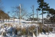 Farmland under snow
