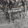 Cyfronydd Station sign