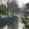 River Idle towards footbridge