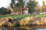 Small shelter by the River Nar