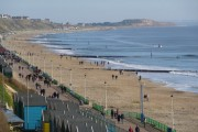 Boscombe: view along the beach