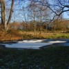 Frozen pond, Bisley Common