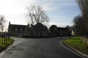 Houses by the junction in Pusey