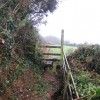 Stile on the footpath near Water Farm