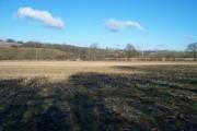 Valley bottom farmland