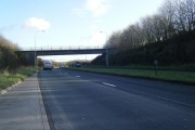 Bridge over A4229.