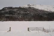 Snow covered fields, Aberarder