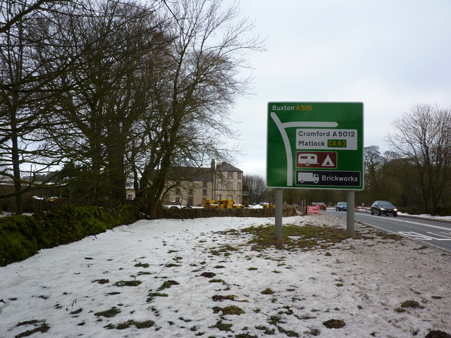 A515 road to Buxton