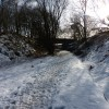 Tissington Trail, bridge near Heathcote, in winter