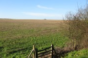Looking SW across farmland from A20 lay-by