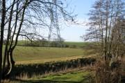 Pylons across farmland
