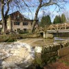 Footbridge over River Avon at Saxon Mill