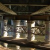 Underside of the railway bridge over the River Avon, Warwick