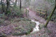 Bridge carrying the Sussex Border Path over stream