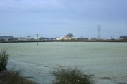 Frosty field from Pot Lane railway bridge