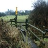 Stile and field boundary, near Misterton