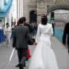 Wedding Party Crossing Tower Bridge, London SE1