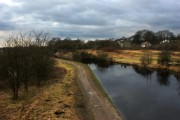 The Leeds Liverpool Canal from ON the bridge at New Springs