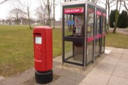 Bovington: postbox № BH20 287 and phones, Gaza Road