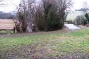 Farm bridge and bridleway over the River Arun near Rowfold Farm