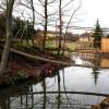 Surrey:  Suspension bridge, Aldro School, Shackleford