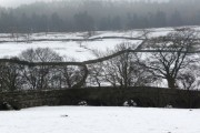 Scabba Wath bridge in the snow