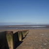 Beach scene with the tide a long way out! Near Fleetwood