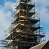 Bromesberrow church under scaffolding