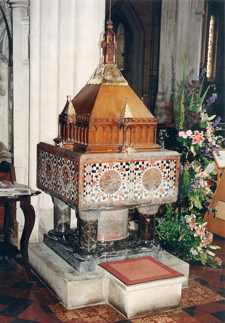 St Mary, Ottery St Mary, Devon - Font