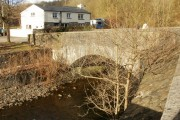 Bridge across the Sirhowy river, Cwm-corrwg