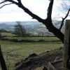 Wire fence,(broken) and stile
