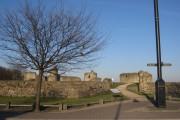 The entrance to Flint castle