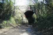 Road to Poole Keynes passes under the railway