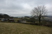 Farm buildings and a view south of Wirksworth