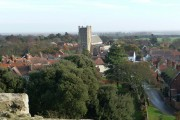 View over Orford from the castle
